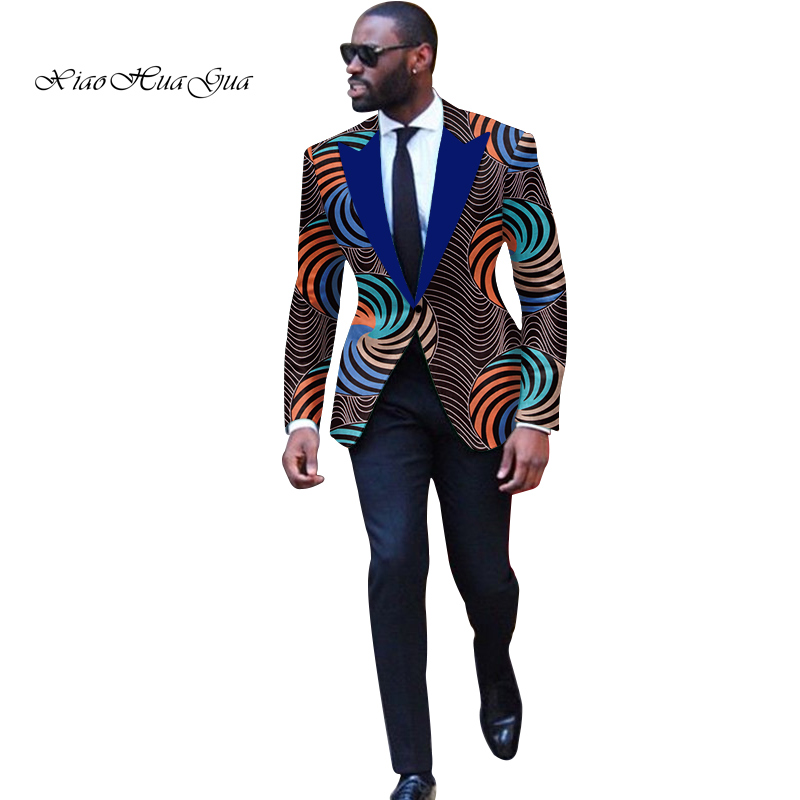 Fashion Men African Style Print Men Suit Jackets Festive Blazers Customized African Man's Blazers Africa Men's Clothes Wyn878