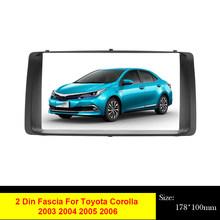 Podwójna Din GPS DVD Radio Panel ramka samochodowe Stereo konsola do Toyota Corolla 2003-2006 Adapter uchwyt do deski rozdzielczej instalacja Tirm Kit bezz