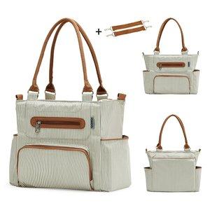 Image 3 - Torba na pieluchy 7 sztuk zestaw pieluszka tote torba o dużej pojemności do dziecko mama tata torba podróżna z wózek pasy