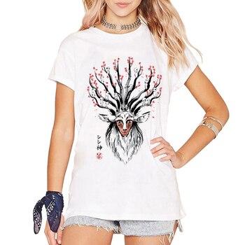 T-shirt Cerf Princesse Mononoke Femmes