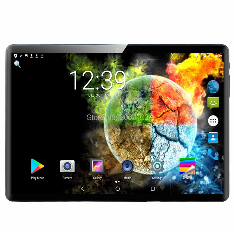 Tablets 10.1 Inch Super Tempered 2.5D Glass Android 9.0 3G 4G LTE GPS WiFi Bluetooth Tablet PC 6GB 128GB HD IPS 1920*1200