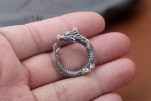 925 Sterling Silver Ring Adjustable Ring Retro Thai Silver Dragon Ring
