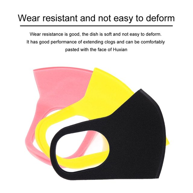 Elastic Anti Dust Mask Washable Mouth Mask Children Respirator Breathable Anti-bacterial Proof Flu Child Face Masks color random 1