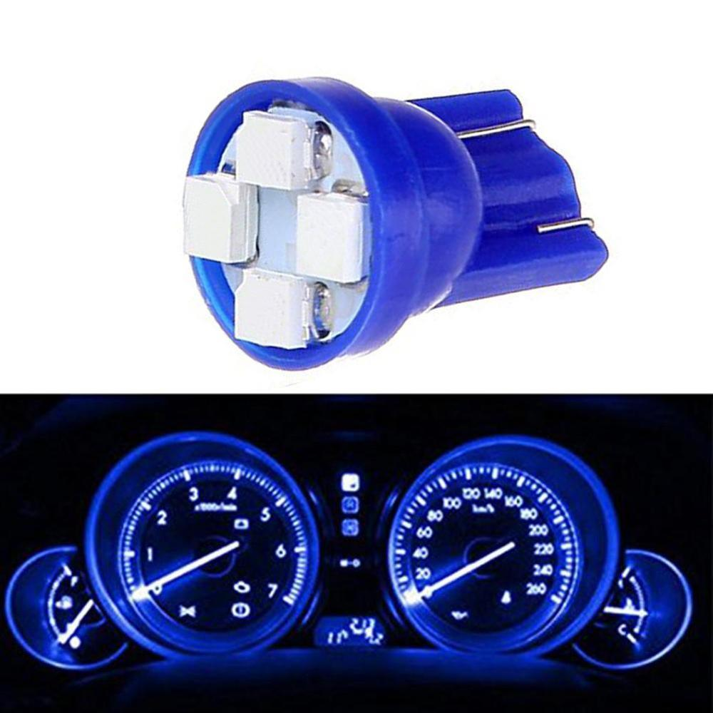 Multifunctional 5pcs <font><b>T10</b></font> <font><b>4</b></font> <font><b>SMD</b></font> 1210 LED Wedge Dashboard Gauge Side Door Marker Clearance Lights Blue Light Bulbs Free Shipping image