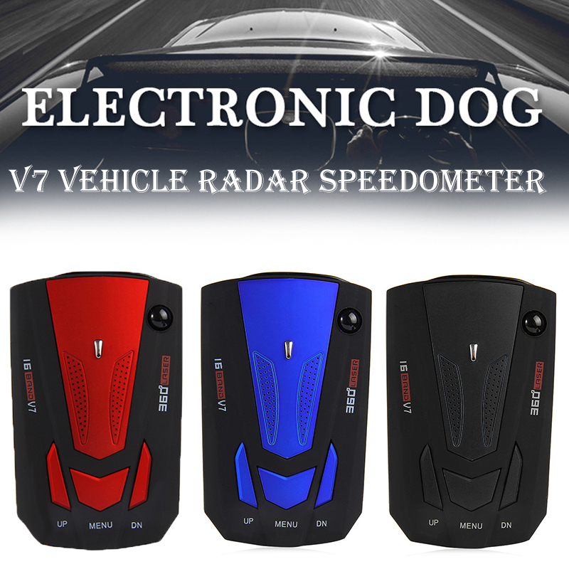 Car  Detector Vehicle  Detector 360 Degree Anti Radars Auto Speed Voice Alert Alarm Warning 16 Band LED Display