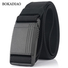 BOKADIAO Allergy prevention plastic buckle Tactical Belts for Men Army Combat Ny