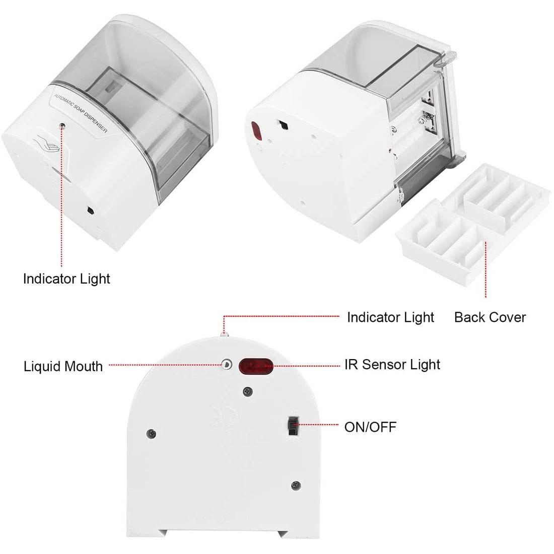 Настенный Белый 600мл инфракрасный индукции умный дозатор жидкого мыла датчика touchless Автоматический дозатор мыла для кухни