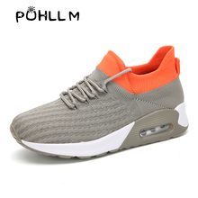 PUHLLM 2019 Women's Sneakers shoes Running Sports New Large Size Flying Woven Socks  Shoes Women Four Seasons Casual Shoes B85 b85m d3v a 1150 pin b85 motherboard b85 full solid plate