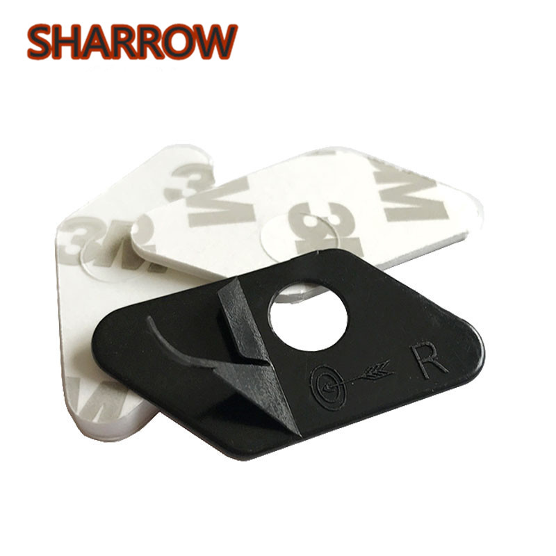 12PCS Archery Arrow Rest Plastic Stick On Arrow Rest Black Left/Right Hand For Recurve Bow Training Shooting Hunting Accessories