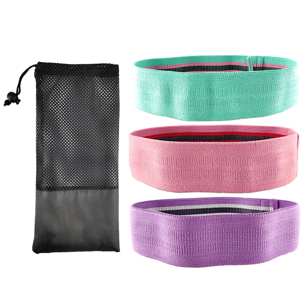 Yoga Strength Resistance Booty Band Hip Circle Loop Pilates 3 Level Training Sport Expander For Legs Thigh Butt Gum Exercise Gym