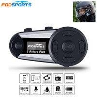 V6 Plus 6 Rider мотоциклетный шлем гарнитура беспроводной BT полный дуплексный Bluetooth Intercomunicador Interphone FM OLED экран