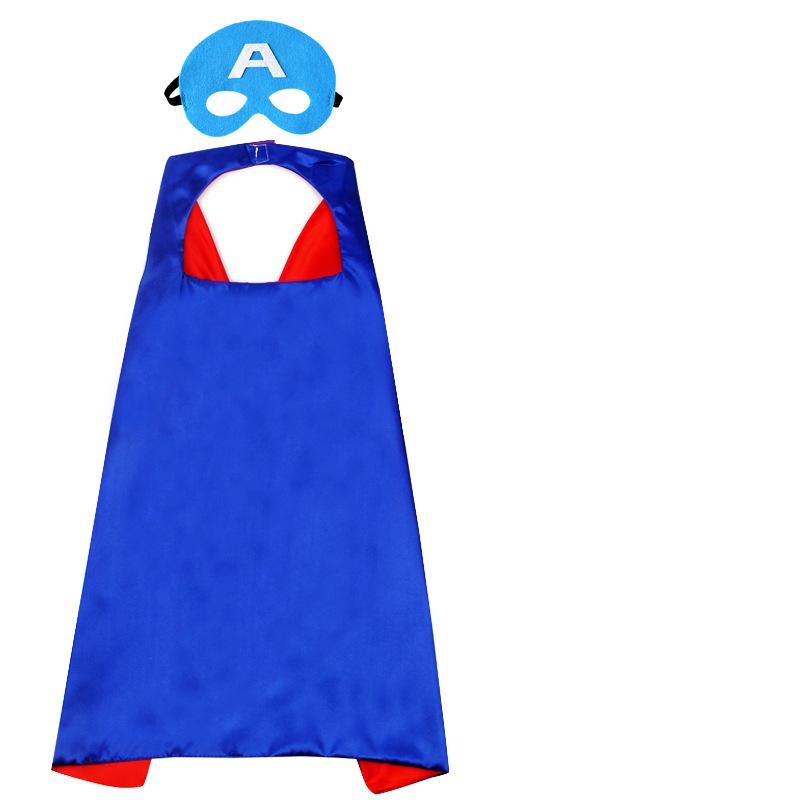 70*70cm Halloween Children's Superhero Cloak Double Cloak Children Cloak