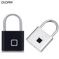 USB Rechargeable Smart Anti-Theft Lock Fingerprint Portable Padlock Door Lock Electric Keyless Door Bag Luggage Case Lock Safety