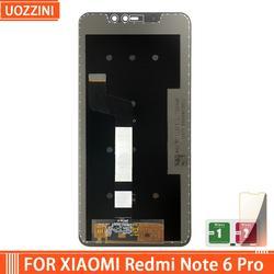 Digitalizador touchscreen para xiaomi, para modelos xiaomi redmi note 6 pro, 1080*2280 lcd pro
