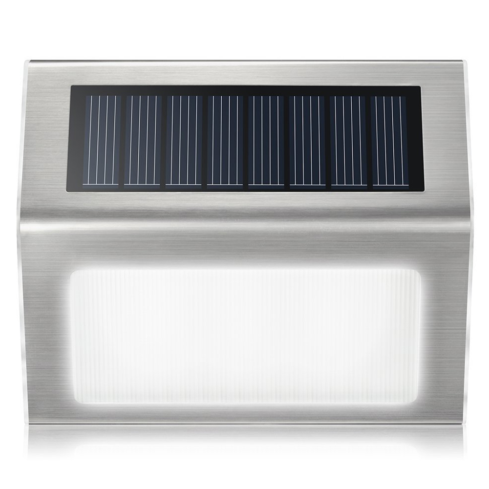 Household Solar Energy LED Garden Yard Fence Lam Stainless Steel Outdoor Wall Lamp Stair Lamp