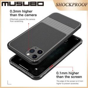 Image 5 - Musubo カーボンろうケース iphone 11 プロマックスソフト耐衝撃シリコン保護バックカバーケース高級 Funda i11 プロ coque