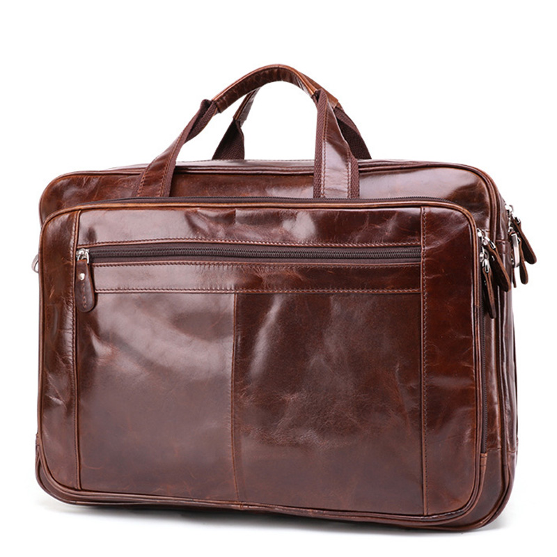 JOYIR 15 Inch Hand Laptop Bags Business Men Briefcase Sling Messenger Bag for Man Large Capacity Male Portable Document Handbags
