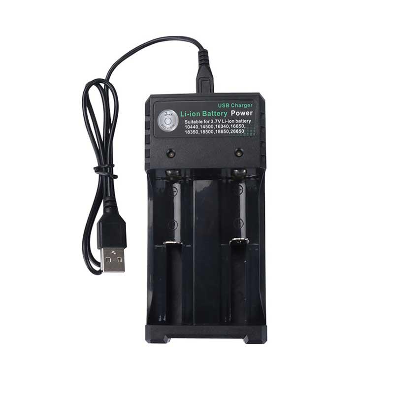 Rovtop 18650 зарядное устройство Черный 2 слота переменного тока 110 В 220 В двойной для 18650 зарядки 3,7 в перезаряжаемая литиевая батарея - Цвет: As the show