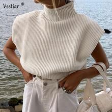 Зимний свитер с высоким воротом для женщин осень 2020 джемпер