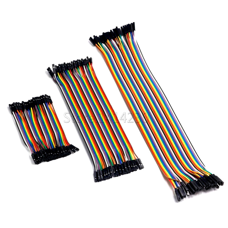 Dupont Line 10cm/20CM/30CM 2.54mm Spacing  Male to Male + Male to Female + Female to Female Jumper Wire Dupont Cable For Arduino
