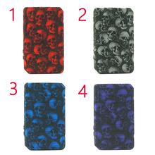 Ochronna czaszka silikonowa skrzynka dla Voopoo Drag 2 177W zestaw Box Mod antypoślizgowa tekstura skórzany pokrowiec tarcza Wrap rękaw fit drag2 tanie tanio Dekoracyjne Ochrony Band Okładki Torba Krzemu Red Blue Green Purple