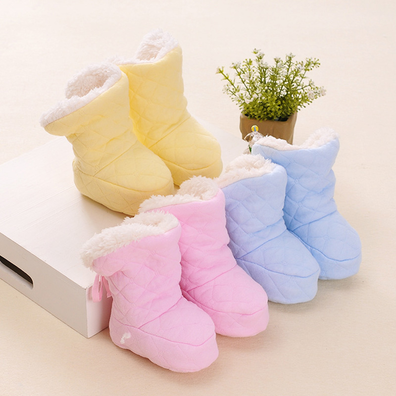 Newborn Winter Boots Baby Girl Boy Cartoon Warm Cotton Boots Casual Shoes Cute Soft Sole Crib Shoes New