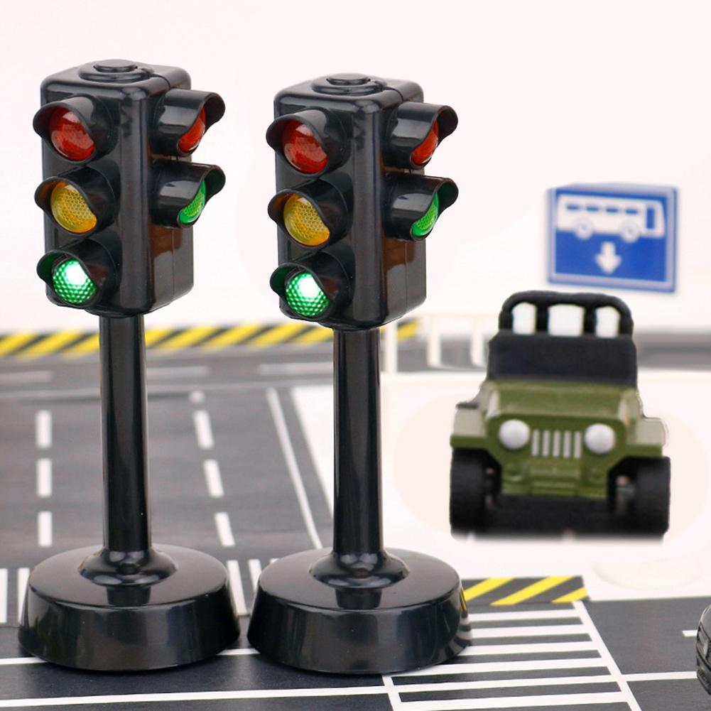 Kids Mini Traffic Signs Light Speed Camera Model Toy With Music LED Education Kids Toy