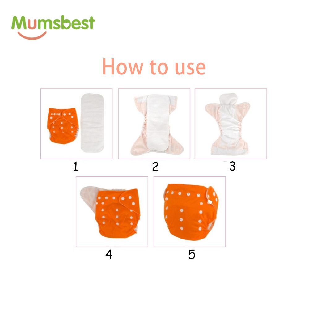 [Mumsbest] 11.11 Big promotion 7 Pcs/Lot Pocket Printing Baby Cloth Diaper Baby Boy Nappies No inserts Waterproof Washable Nappy (PACK 17)