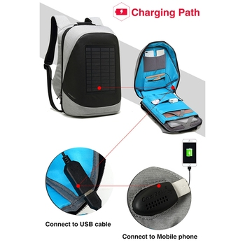 Multifunction Solar Energy Rechargeable Backpack Men Anti Thief Waterproof 15.6 inch USB Charging Laptop Backpack Travel Bags 4
