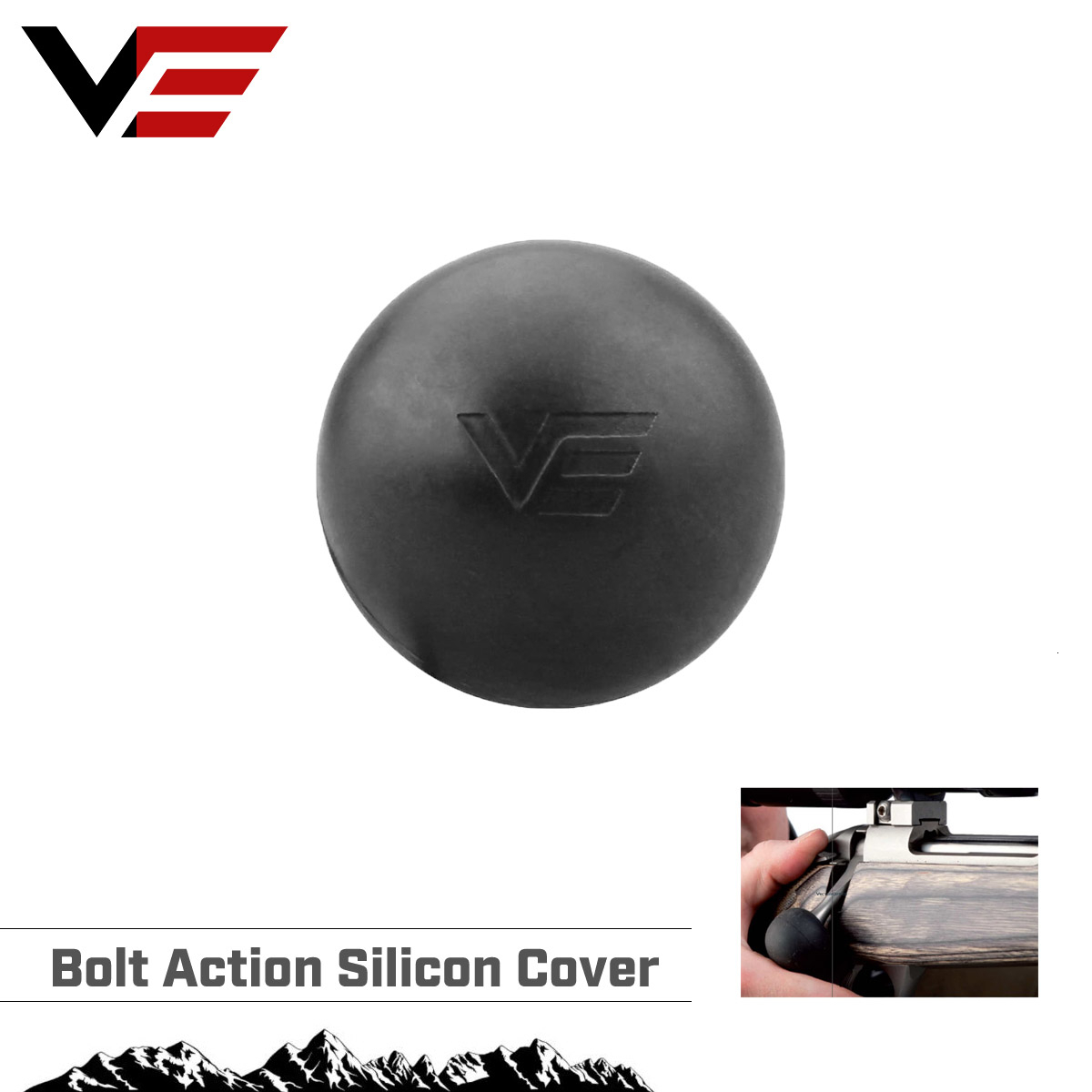 Vector Optics Riflescope Bolt Action Soft Silicon Ball Cover Tactical Handle Knob Hunting & Shooting