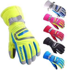 Ski-Gloves Snow Mittens Skiing Warm Breathable Waterproof Winter Kids Women L/XL