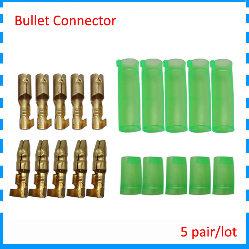 5 Pair/lot Ebike Bicycle Battery Motor Power Bullet Connector With Isolated Protector