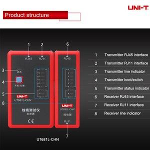 Image 5 - UNI T اختبار كابل الشبكة الرقمية RJ45/RJ11/BNC/HDMI LAN السيارات إيثرنت أداة إصلاح الهاتف LED خط مدقق