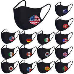 Usa Spain Flag Mask Fashion Print Designer Ship From United States Cotton Adult Fabric Mask Outdoor Protec Halloween Cosplay