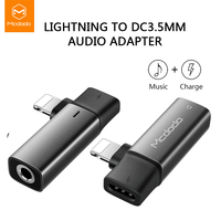 Mcdodo-Adaptador de Audio para iPhone 12, 11 Pro, XR, XS Max, 8, 7 Plus, a Jack de 3,5mm, auriculares, OTG, convertidor divisor de carga 2A