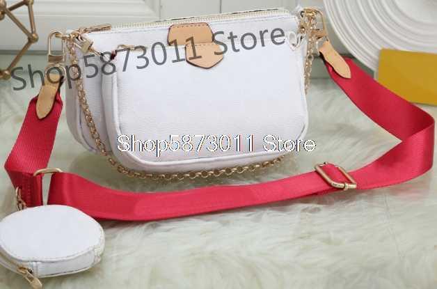 Iyi satmak bayan beyaz üç bir mahjong çanta lüks çanta tek omuz Messenger çanta kadınlar için louis geniş omuz kemer