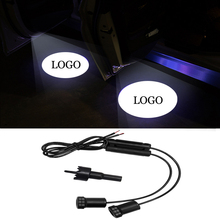 2pc LED Welcome Light Car Door For Land Rover Logo Projector Lamp Atmosphere Interior Lighting Styling