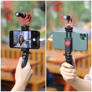 Image 5 - ULANZI 360 Telefone Tripé Flexível Montar Titular da Braçadeira com Sapata Fria para iPhone Samsung DSLR câmera de monitoramento