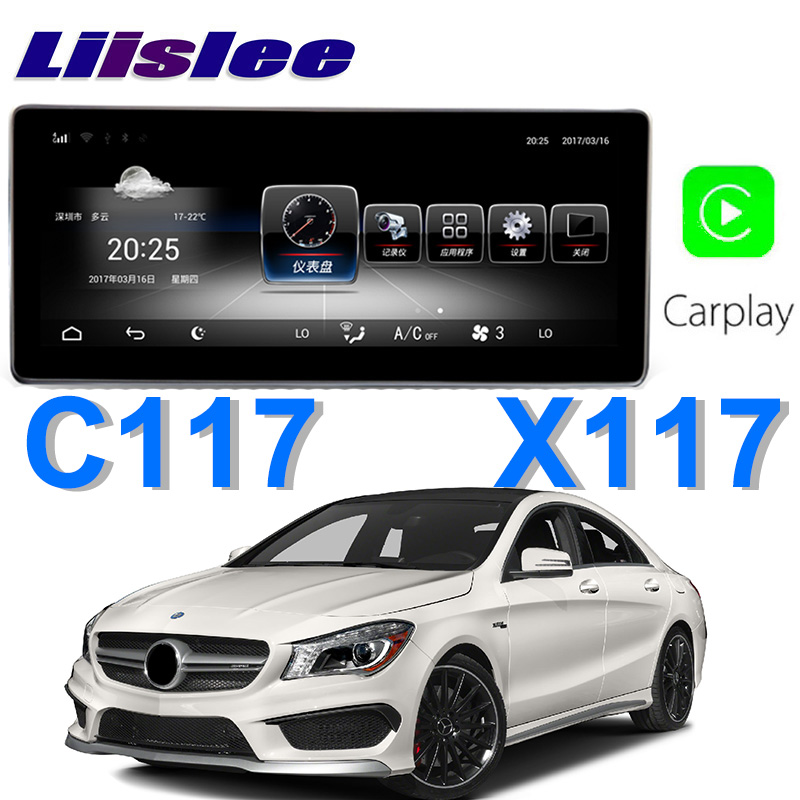 Liislee Car Multimedia Player NAVI For Mercedes Benz MB CLA 250 Class C117 X117 CLA180 2014~2018 Car Radio Stereo GPS Navigation