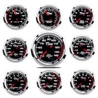 Indicador de presión de aceite y agua para coche, medidor de temperatura de escape para vehículo, 2