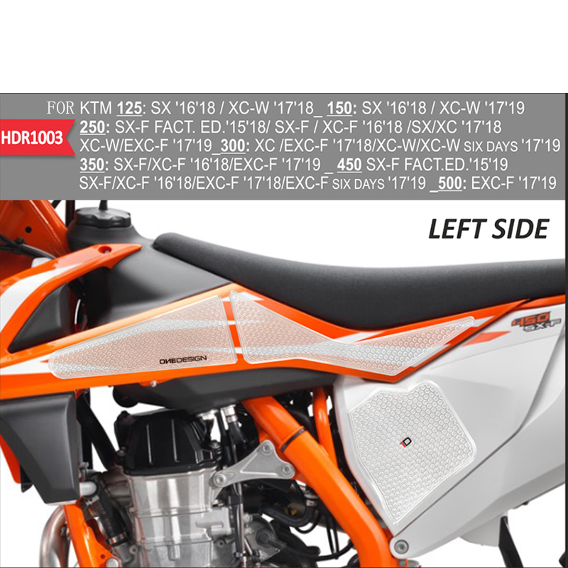 FOR <font><b>KTM</b></font> 125 150 250 300 350 <font><b>450</b></font> 500 motorcycle Decal Gas Knee Grip Tank Pad Protector <font><b>Sticker</b></font> Side Tank Traction Pad 3M image