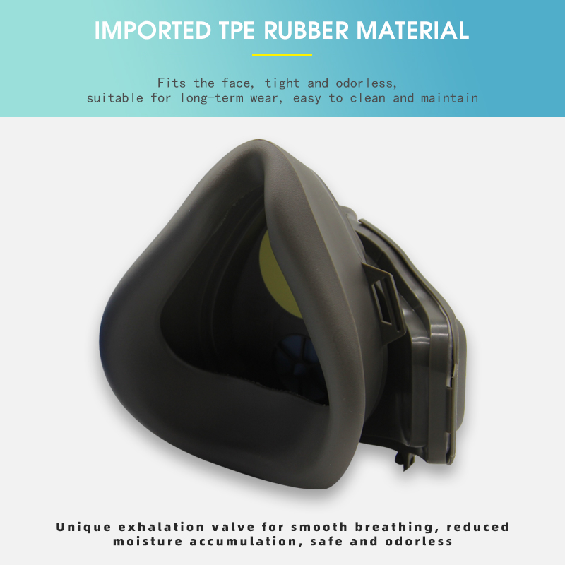 Image 3 - Anti Dust Respirator Filter Gas Mask Set Chemical Anti dust Masks  Industrial Dust Smog Paint Spraying Protective MaskMasks   -