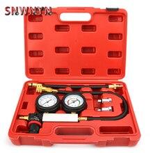 TU 21 Petrol Engine Cylinder Compression Leak Detector Tester Gauge Tool Kit Cylinder Leak Tester Compression Leakage Detector