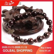 Gem inside Natural  Mala Anglican Muslim Catholic Christian Episcopal Prayer Rosary Stone Beads Bracelet For Men Women