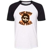 T-shirt manches courtes en coton pour hommes, imprimé, avec dessin de la forêt d'imagination