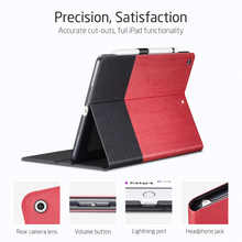 For Apple New IPad 9.7 Inch 2017 & 2018,ESR PU Leather Smart Cover Case with Pencil Holder for IPad 9.7 A1822 A1823 A1893 A1954