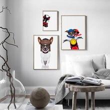 Черный белый мультяшный медведь детский настенный художественный