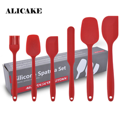 6 Pieces Set Silicone Baking & Pastry Spatulas Scraper Shovel Pastry Cutters Brush Silicone Kitchenware