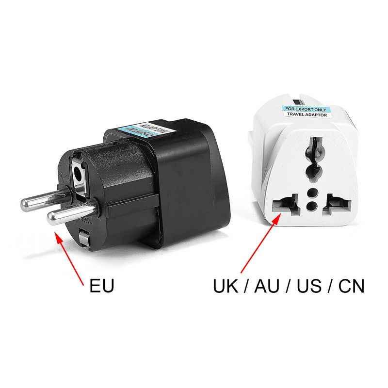 Универсальный переходник AU UK US в европейский разъем, переходник для розетки