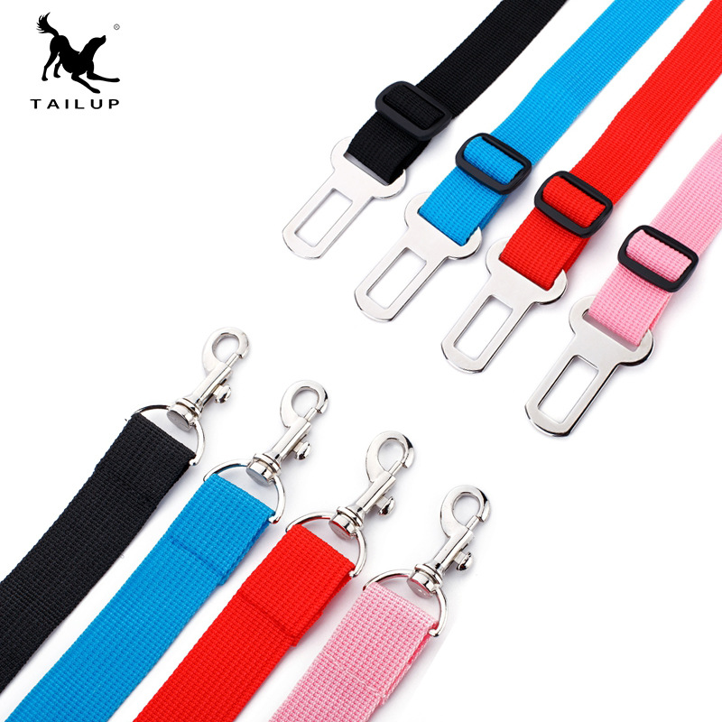 Platform Hot Sales Pet Car Seat Belt Nylon Dogs And Cats On Board Hand Holding Rope Adjustable Length